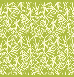 bamboo seamless japanese pattern on green vector image