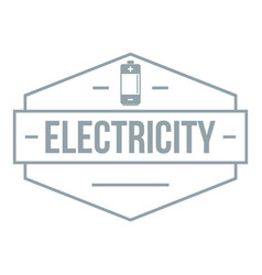 battery logo simple gray style vector image