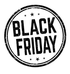 black friday sign or stamp vector image