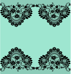 black lace borders vector image