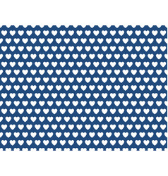 blue heart shape pattern vector image