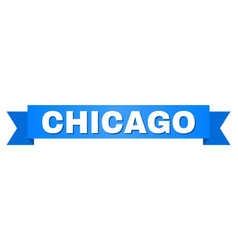 Blue stripe with chicago caption vector