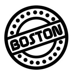 Boston stamp on white vector