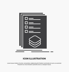 categories check list listing mark icon glyph vector image