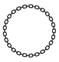 chain links in a prefect circle vector image