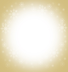Christmas and winter background - gold vector