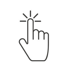Clicking hand icon with drop effect tap or press vector