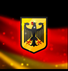 coat arms germany vector image