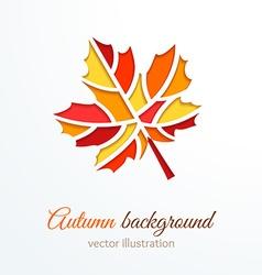 Colorful cutout autumn leaf vector