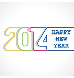 creative happy new year 2014 design vector image