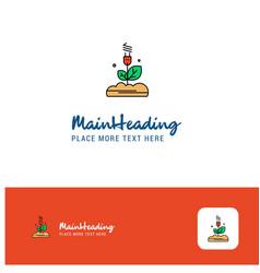 creative power plant logo design flat color logo vector image