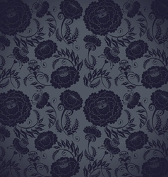 dark floral pattern vector image vector image
