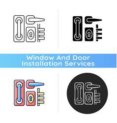 door hardware icon vector image