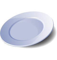 empty plate vector image vector image