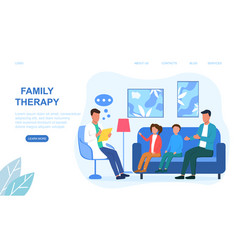 Family psychologist appointment vector