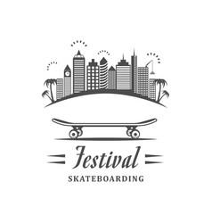 Festival skateboarding logotype vector