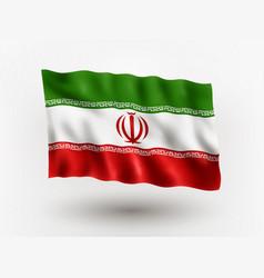 Flag iran vector