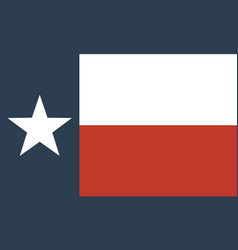 flag us state texas vector image