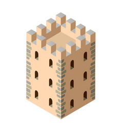 fort ancient historic antique fortress castle vector image