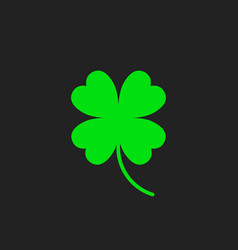 four leaf clover icon clover silhouette simple vector image