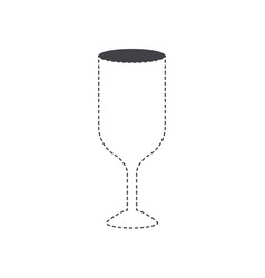 glass wine flat black silhouette and dotted vector image