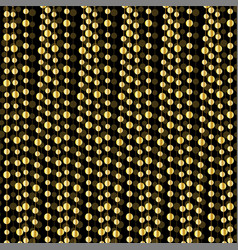 Gold garland pattern vector