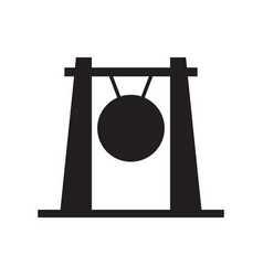 Gong icon vector