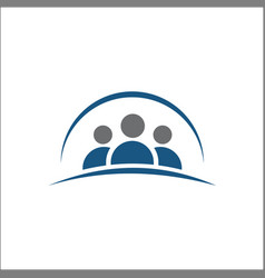 group people icon friends iconlogo vector image