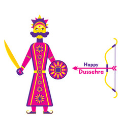 happy dussehra poster vector image