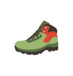 Hiking boot icon in flat style isolated on white vector