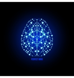Human brain perfection concept vector