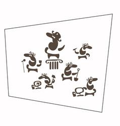 human mood comic characters set vector image