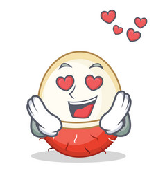 In love rambutan mascot cartoon style vector