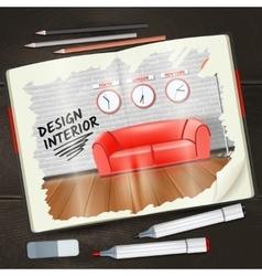 Interior Sketchbook vector