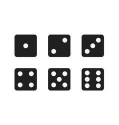 isolated black dices vector image