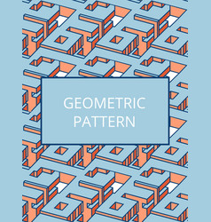 isometric abstract seamless pattern can be used vector image