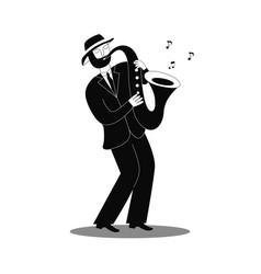 Jazz saxophone player vector