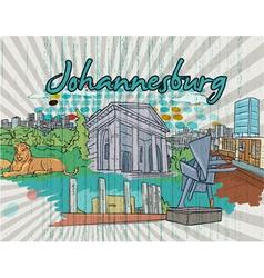 johannesburg doodles vector image vector image