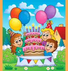 Kids party theme image 5 vector