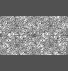 lines hexagonal pattern in abstract style on white vector image