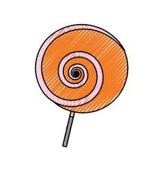 Lollipop sweet candy vector