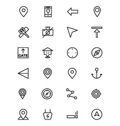 Map and Navigation Line Icons 1 vector