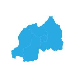 map of rwanda high detailed map - rwanda vector image