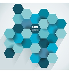 Modern abstract hexagon background vector
