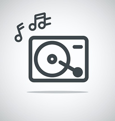Modern media web icon Music player vector image vector image