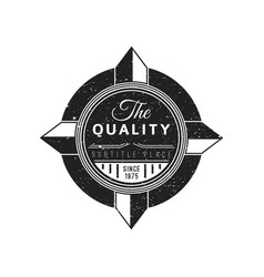 monochrome retro badge design vector image