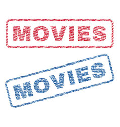 Movies textile stamps vector