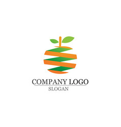 orange logo and symbols template vector image