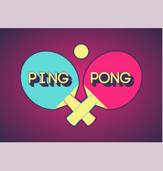 ping pong typographical vintage style poster vector image