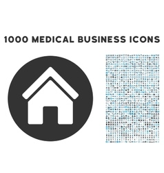Real Estate Icon with 1000 Medical Business vector